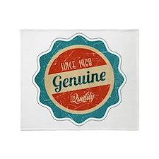 Retro Genuine Quality Since 1968 Throw Blanket