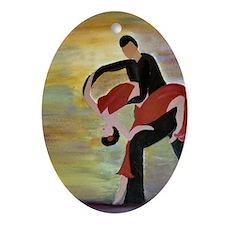 Ballroom Dancing Oval Ornament