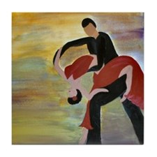 Ballroom Dancing Tile Coaster