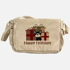 French Bulldog Happy Holidays Messenger Bag