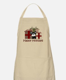 French Bulldog Happy Holidays Apron