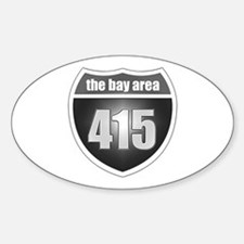 Interstate 415 (Bay Area) Oval Decal