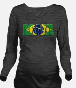 Brazil Logo Long Sleeve Maternity T-Shirt
