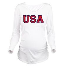 USA Logo Long Sleeve Maternity T-Shirt