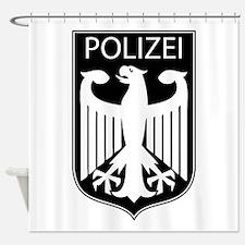 german polizei shower curtains german polizei fabric shower curtain liner. Black Bedroom Furniture Sets. Home Design Ideas