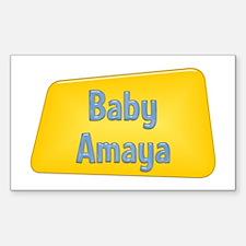 Baby Amaya Rectangle Decal
