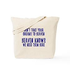 Organs To Heaven Tote Bag