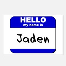 hello my name is jaden  Postcards (Package of 8)