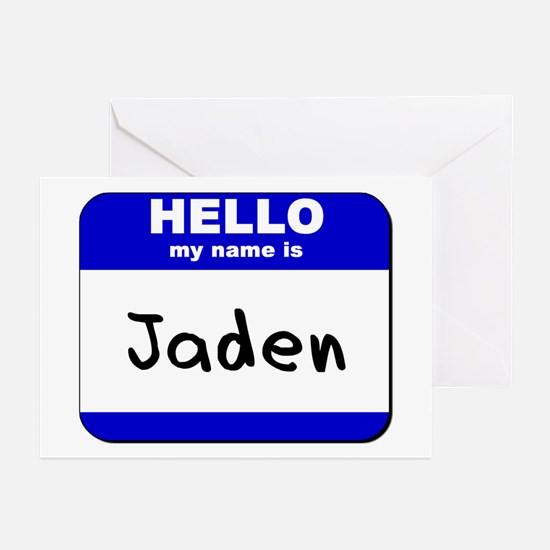 hello my name is jaden  Greeting Cards (Package of