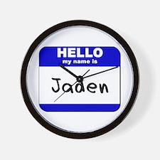 hello my name is jaden  Wall Clock
