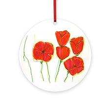 Poppies Ornament (Round)