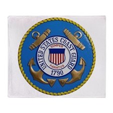USCG Emblem Throw Blanket