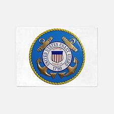 USCG Emblem 5'X7'area Rug