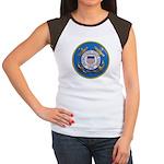 USCG Emblem Women's Cap Sleeve T-Shirt
