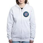 USCG Emblem Women's Zip Hoodie