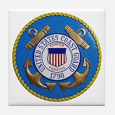USCG Emblem Tile Coaster