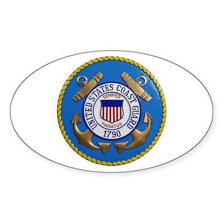 USCG Emblem Sticker (Oval)
