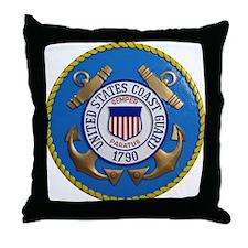USCG Emblem Throw Pillow