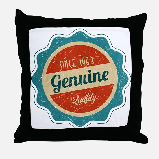 Retro Genuine Quality Since 1963 Throw Pillow
