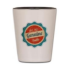 Retro Genuine Quality Since 1963 Shot Glass