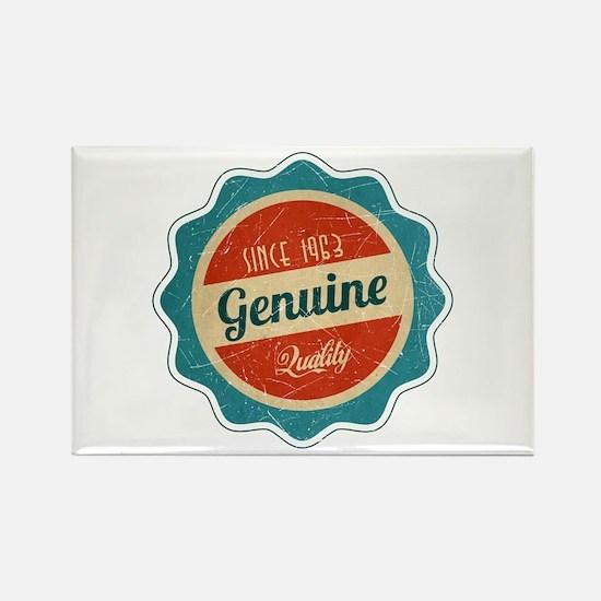 Retro Genuine Quality Since 1963 Rectangle Magnet