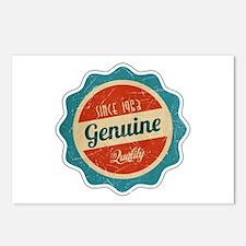 Retro Genuine Quality Since 1963 Postcards (Packag
