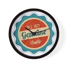 Retro Genuine Quality Since 1962 Wall Clock