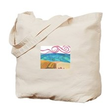 wind, ocean and land Tote Bag