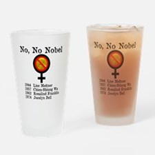 No No Nobel Drinking Glass