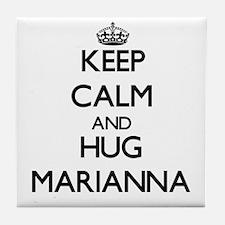 Keep Calm and HUG Marianna Tile Coaster