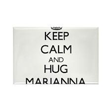 Keep Calm and HUG Marianna Magnets