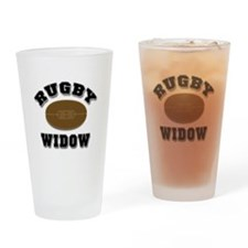 Rugby Widow Drinking Glass