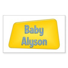 Baby Alyson Rectangle Decal