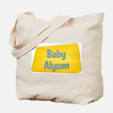 Baby Alyson Tote Bag