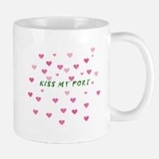 Kiss my Port with pink hearts Mugs