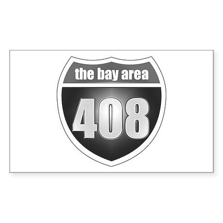 Interstate 408 (Bay Area) Rectangle Sticker