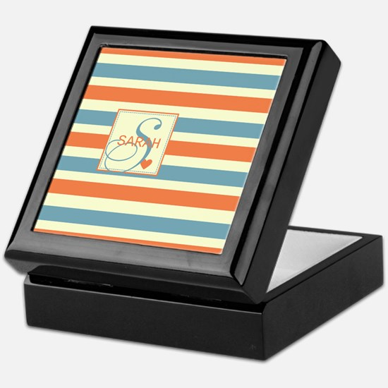 Mid-Tone Stripe Monogram - Personalized Keepsake B