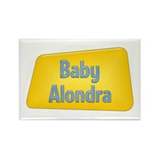 Baby Alondra Rectangle Magnet