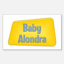 Baby Alondra Rectangle Decal