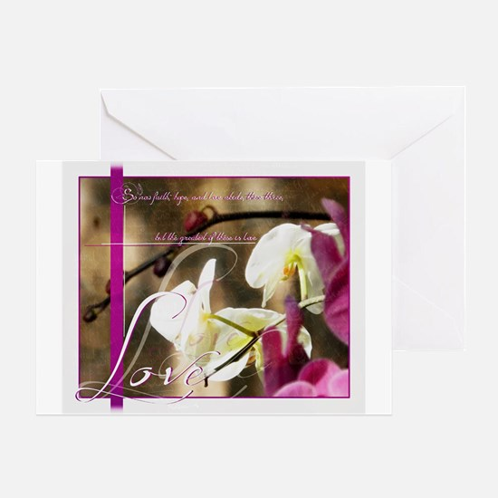 The greatest of these is Love Greeting Cards