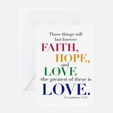 Faith, Hope, Love, The Greatest of these is Love G