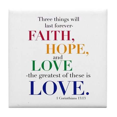 Faith, Hope, Love, The Greatest Of These Is Love T by PureJoyShop