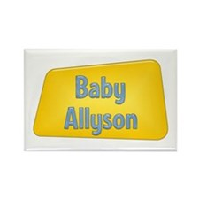 Baby Allyson Rectangle Magnet