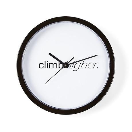 Climb Higher Wall Clock