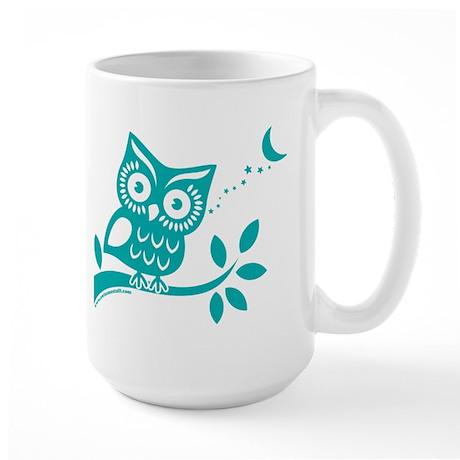 Turquoise Owlsome Owl Mugs