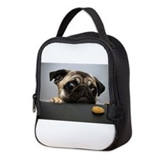 Hungry Pug! Neoprene Lunch Bag