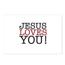 Jesus loves You! Postcards (Package of 8)