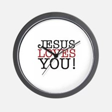 Jesus loves You! Wall Clock
