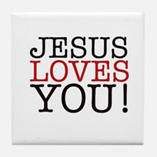 Jesus loves You! Tile Coaster