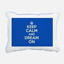 Keep Calm And Dream On Rectangular Canvas Pillow